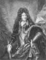 Louis XIV of France (1638 -1715) on engraving from 1886. King of France from 1643 to 1715. Engraved by W.Greatbatch and published in London by Richard Bentley & Son in 1886.